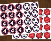 Soccer Cupcake Toppers or Favor Tags Printable