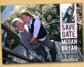 Save the Date Card Photo Magnet, Printable, or Printed Your Choice of Color