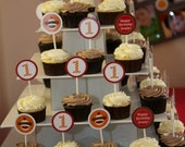 Sock Monkey Cupcake Toppers Personalized