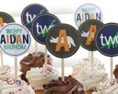 Dinosaur Birthday Party Printable Cupcake Toppers Party Circles
