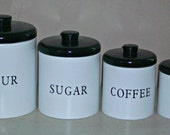Black & White Canisters