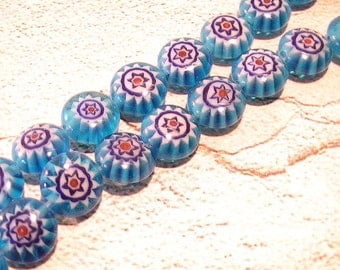 Glass Bead 8mm Round Teal Navy Red White 20pcs Glass Bead Jewelry Making Supplies