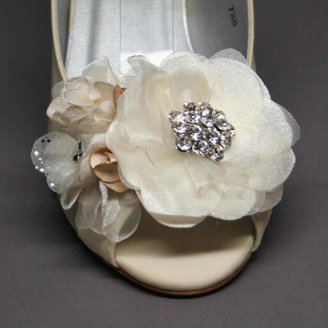 Wedding Shoes Ivory Wedding Wedge With By DesignYourPedestal