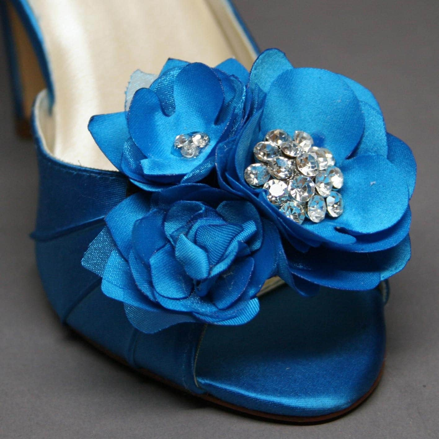 SAMPLE SALE Blue Wedding Shoes Turquoise Peeptoe Heels With