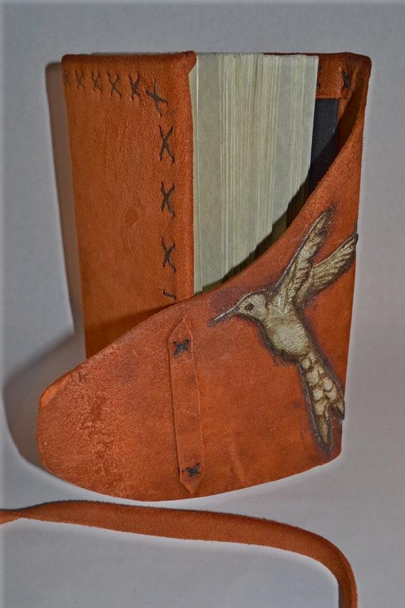 Hummingbird JOURNAL Suede Poetry Art Journal Handmade 6x8 164 Pages