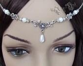 Floral Pearl Renaissance Medieval Circlet Headpiece Headdress
