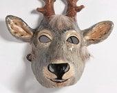 Paper mache deer mask