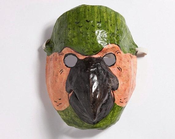Paper mache parrot mask