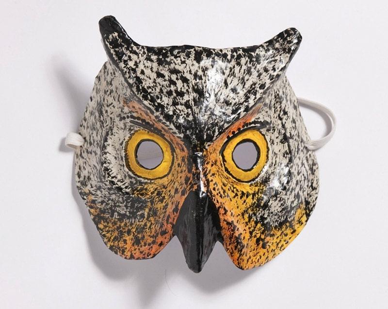 Paper mache calf mask - Masque papier mache ...