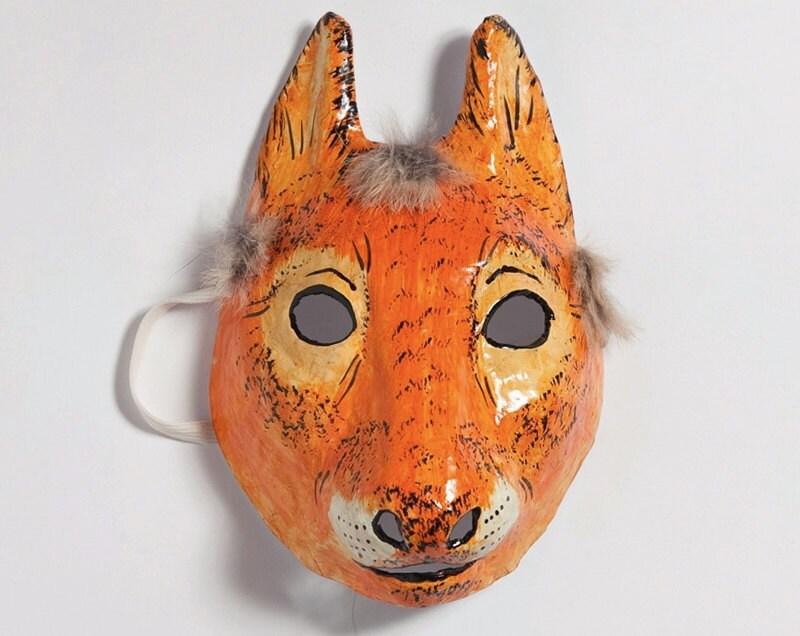 Paper mache squirrel mask by jevgeniamasks on etsy - Masque papier mache ...