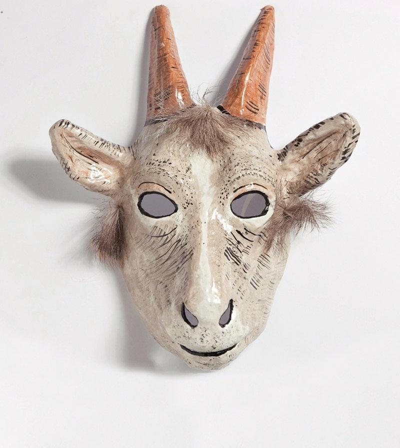 Paper mache goat mask by jevgeniamasks on etsy - Masque papier mache ...