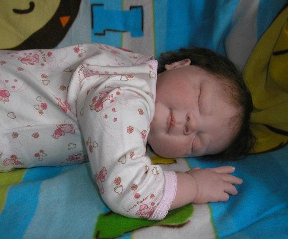 reborn baby Libby - lovely chubby sleeping girl - SALE