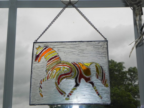Rainbow horse window decoration