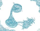 Peacock Drawing. Original Sharpie Artwork from Allie Kelley.
