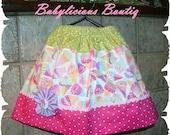 Girls skirt, twirl skirt, Infant skirt, toddler skirt..Ice Cream Cones..sizes 0-12mon, 1/2, 3/4, 5/6, 7/8, 9/10 Bigger Sizes
