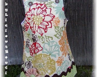 Custom Aline Dress..Blossoms..Available in 0-6 months, 6-12 months, 12-18 months, 18-24 months, 2T, 3T..Bigger sizes AVAILABLE