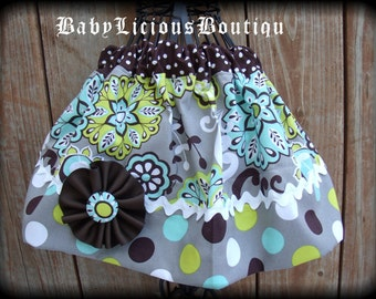 Girls Skirt Custom..Sugar Baby..Available in 0-12 months, 1/2, 3/4, 5/6, 7/8, 9/10 Bigger Sizes Available