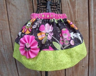 Girls Twirl Skirt Infant toddler flower Custom..Garden Berries..sizes 0-12 months, 1/2, 3/4, 5/6, 7/8, 9/10 Bigger Sizes Available
