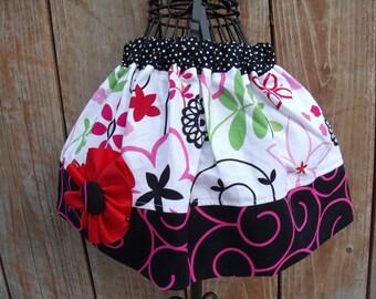 Girls Twirl Skirt Infant toddler flower Custom..Diva..sizes 0-12 months, 1/2, 3/4, 5/6, 7/8, 9/10 Bigger Sizes Available