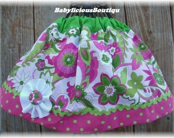 Girls skirt, Infant skirt, Twirl Skirt Custom..Big Blooms..Available in 0-12 months, 1/2, 3/4, 5/6, 7/8, 9/10 Bigger Sizes Available