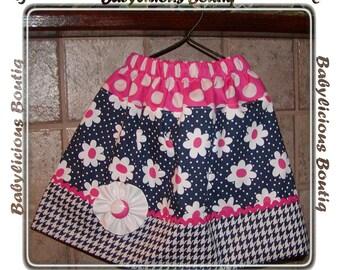 Girls skirt, Twirl Skirt, Infant skirt, toddler skirt, Custom..Daisies..sizes 0-12 months, 1/2, 3/4, 5/6, 7/8, 9/10 Bigger Sizes