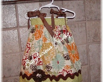 Girls Pillow Case Dress Infant toddler Custom..Blossoms..Get yours today