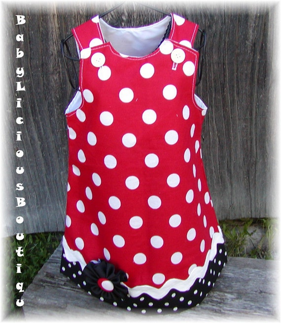 Girls Aline Dress Infant toddler birthday Custom..Mickey Mouse.sizes 0-6, 6-12, 12-18, 18-24 months, 2T, 3T..Bigger sizes AVAILABLE