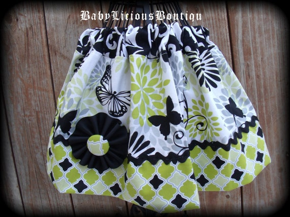 Girls infant toddler Skirt Custom..Butterfly Diva..Available in 0-12 months, 1/2, 3/4, 5/6, 7/8, 9/10 Bigger Sizes Available