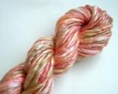 AUTUMN handspun Merino/Tencel thick and thin yarn 36 yds