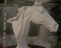 Awesome, Large Horse, Throughbred Horse, Horse bust,Horse head statue, Ready to Paint, u-Paint,Ceramic bisque
