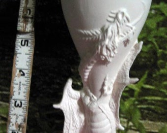 Awesome, Dragon Goblet, Dragon cup, Fantasy goblet,Dragon glass,Renaissance Dragon, Ready to paint, u-paint,Ceramic bisque