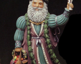 "10"", Old World Santa, English Santa, Collectible, Kimple Santa, Vintage santa, Christmas Decoration, Ready to paint, Ceramic bisque,u-paint"