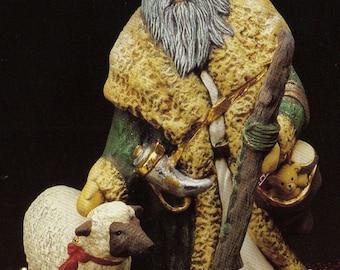 Old World Santa,Irish Santa,Collectible,Christmas decoration,Kimple santa,Santa and Sheep,Vintage,Ready to paint,u-paint,ceramic bisque