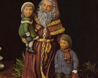 Old World Santa,Victorian Santa,Collectible Santa,Santa and children,Kimple santa,Christmas decoration,Ready to paint,u-paint,ceramic bisque
