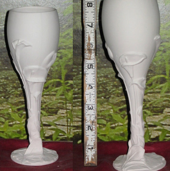 Elegant, Calla Lily Goblet, Flower Goblet, Lily Cup, Lily Goblet, Ready to paint, u-paint, Ceramic bisque