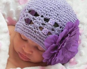 Crochet Hat for Infants - 3 years or Toddler - Adult - Perfect in Purple