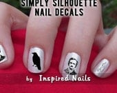 Poe and The Raven Nail Decals Black and Clear Simply Silhouette by Inspired Nails