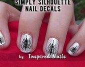 Chandelier Decals Black and Clear Simply Silhouette by Inspired Nails
