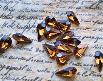 12 Lot of Vintage Swarovski Austrian crystal Rauchtopas