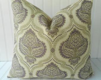 SALE - Purple Pillow - 18 x 18 - Decorative Designer Throw Pillow - Accent Pillow