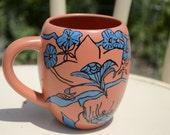 Upcycled hand painted coffee mug