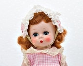 """Alexander-kins Strung Doll 8"""" Madame Alexander 1953 Redhead with Outfit"""