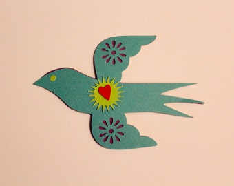 Die Cut Mexico style Bird