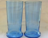 ReFlamed Glassworks Recycled Glass Tumblers from Blue Pinnacle Vodka Bottle