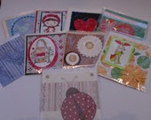 a variety selection of hand made cards (9)