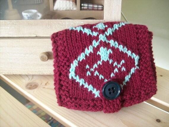 Handmade knitted women wallet-carpet design