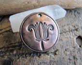 Bloom, Handmade Rustic Copper Pendant