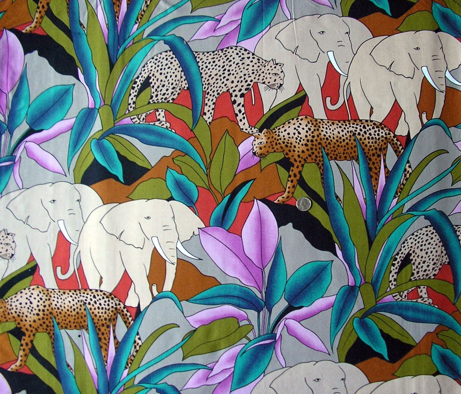 Jungle print fabric lookup beforebuying for Childrens jungle print fabric