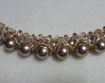 Beautiful Swarovski pearl necklace from bridal collection