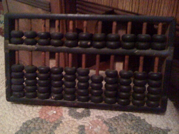 Vintage Wooden Abacus Math Tool